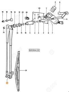 Immagine di braccio tergicristallo