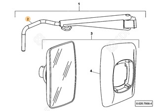 Picture of mirror arm