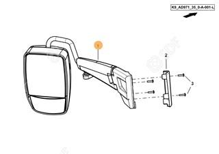 Immagine di specchio retrovisore completo